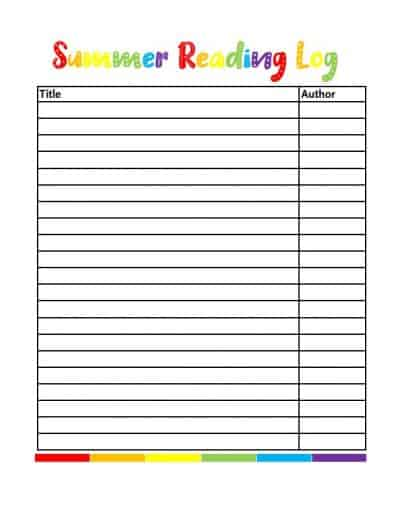 graphic relating to Books I've Read Printable named Absolutely free Printable Summer time Studying Log for Youngsters - Scattered