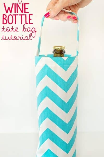 Wine Bottle Tote Bag Pattern and Tutorial