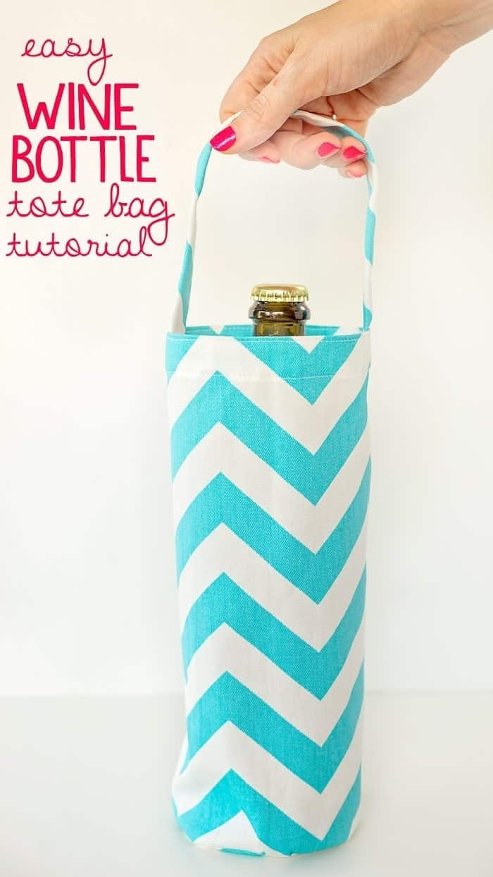wine bottle tote bag pattern