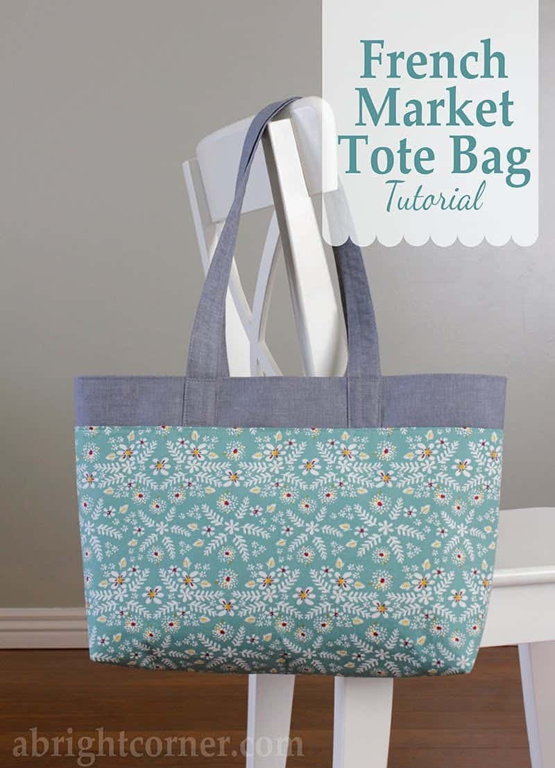 french market free tote bag pattern