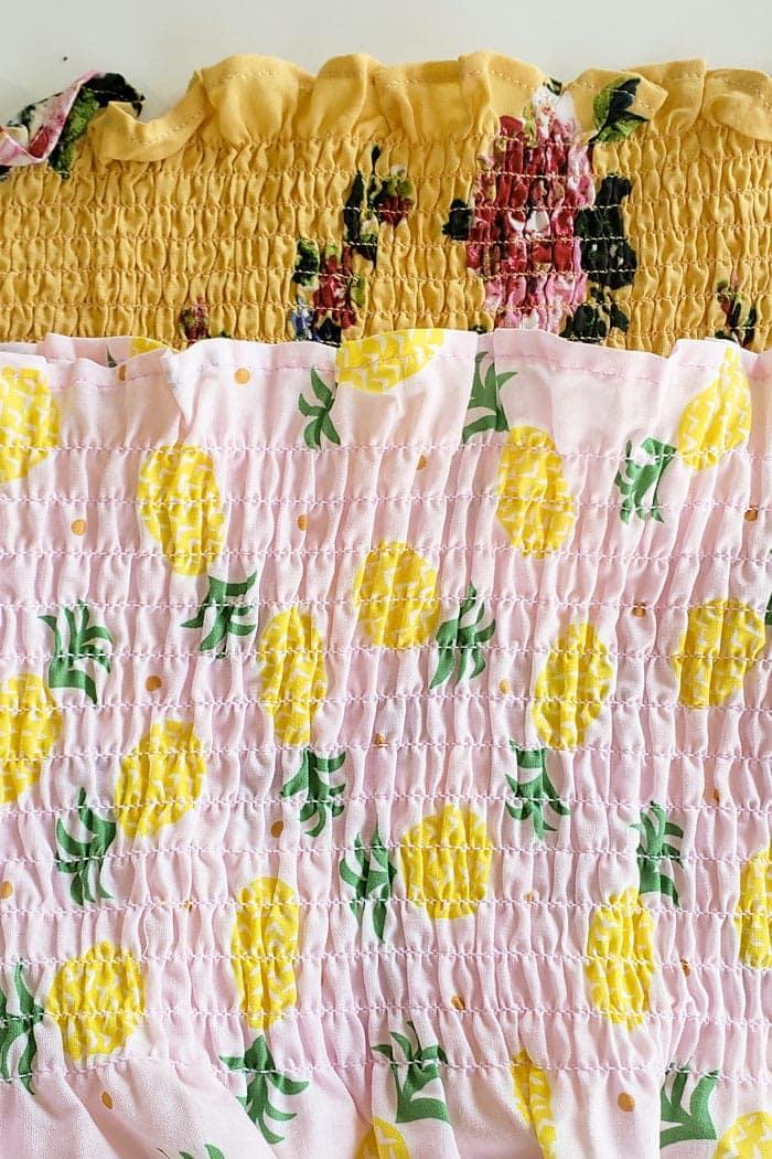 pre smocked fabric